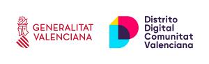 Logos de la Generalitat Valenciana y del Distrito Digital Comunitat Valenciana