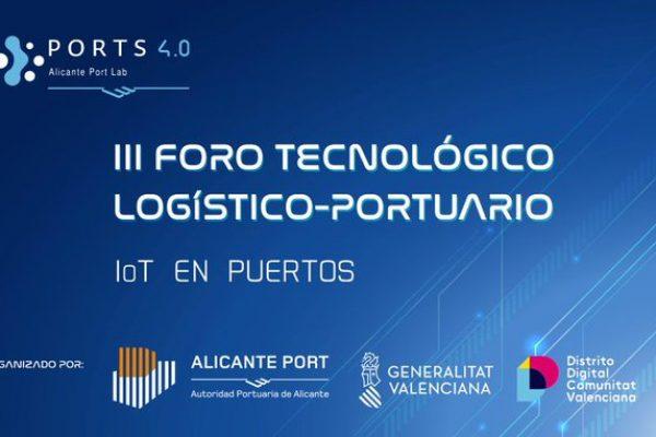 IoT en Puertos. Organizado por Alicante Port, la Generalitat Valenciana y Distrito digital de la Comunitat Valenciana